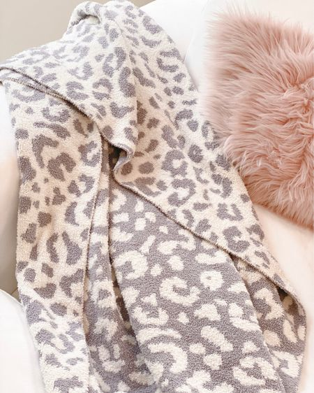 The best barefoot dreams blanket dupe from tj maxx!! Only $24.99 🤍  cupcakes and cashmere, leopard throw   #LTKunder50 #LTKhome