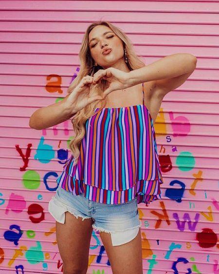Spread more 💗 http://liketk.it/3ibZB #liketkit @liketoknow.it #LTKunder100 #summertank #summerstyle #buddylove #shopbuddylove #colorful #summerootd #summeroutfits
