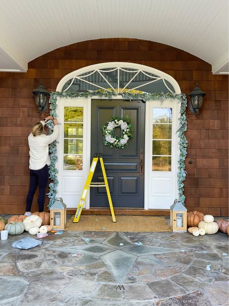 Current situation : decorating the front porch. Let's host a backyard wedding! || #frontporch #fallporch #weddingporch #weddingdecor #blushpink #wedding #fallwedding  #LTKhome #LTKSeasonal #LTKfamily