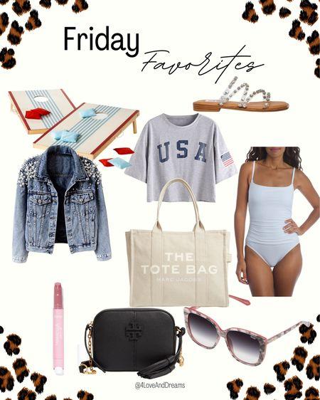 Friday favorites. Tote. Sale. Tory Burch bag. Sandals. Swimsuit    #LTKsalealert #LTKstyletip #LTKunder50