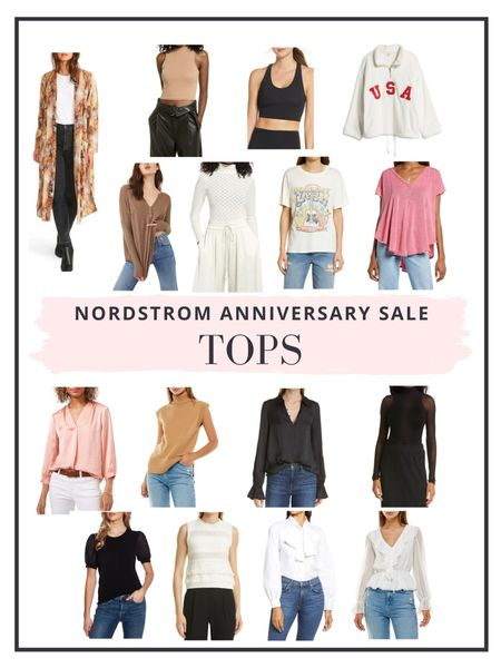 The Nordstrom Anniversary Sale is now live to all cardholders! Here's are our top picks for tops and shirts. http://liketk.it/3jRAc #liketkit @liketoknow.it #LTKsalealert #LTKunder100
