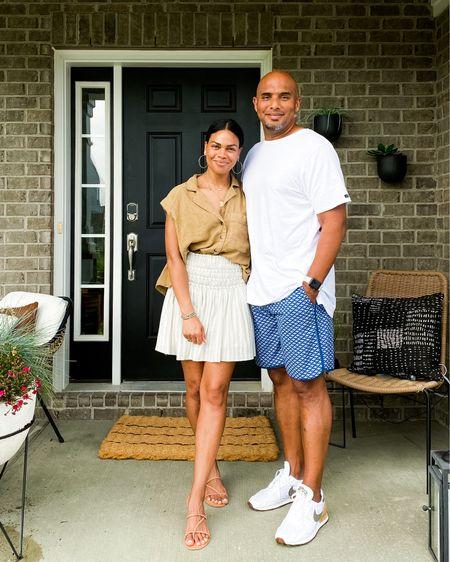 #skirt #linen #sandals #shirt http://liketk.it/3hoZW #liketkit @liketoknow.it