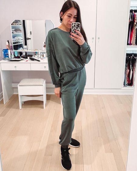 This cozy cute set is a new favorite! The cropped sweatshirt and joggers have satin stripes/bands and are a flattering fit. Can't wait to wear this both out and staying in this fall and winter. The set would also make an awesome gift for her!   #LTKunder100 #LTKSeasonal #LTKGiftGuide