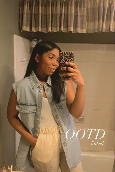 Casual style, vest, drawstring pants, H&M #liketkit @liketoknow.it http://liketk.it/3gsTw