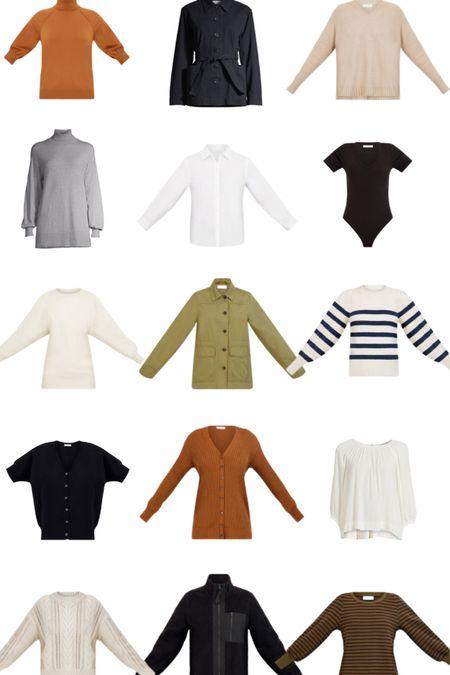 15 Pieces for Fall Layering, #ad #WalmartFashion Free Assembly   Fatigue jacket, cardigan, boyfriend white shirt, turtleneck tunic, sweater, blouse   #LTKstyletip #LTKunder50 #LTKSeasonal