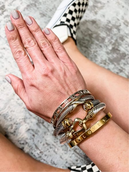 The styled collection, bracelets, gold jewelry, gold bracelets.  Code: LTK40 for 40% off  #LTKSale #LTKsalealert #LTKunder50