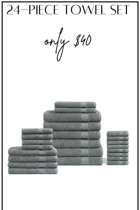 Towel set #thedailydupes  #LTKhome
