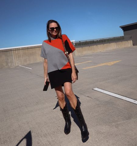 Fall outfit ideas. Rent the runway dress. Ranch road boots. Black cowboy boots. Rebecca Piersol style. Code RTRREBECCAP for 40% off first 2 months with rent the runway.   #LTKstyletip #LTKshoecrush #LTKSeasonal
