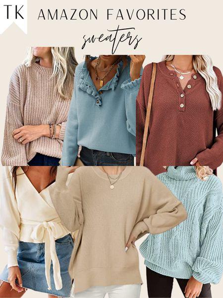 amazon fall sweaters / amazon sweater / amazon find / amazon pick / blue sweater / cream sweater / beige    #LTKunder100 #LTKunder50