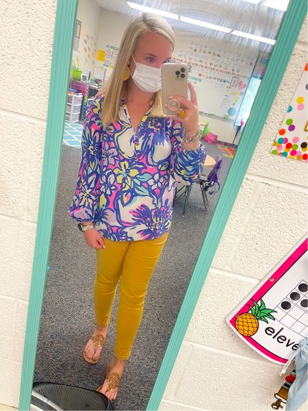 I've really missed posting my #TeacherOOTDThursday posts so here you go 💛 This was from yesterday but it's definitely one of my favorites! I told you… you can still wear bright colors in the Fall 🤪   #LTKSeasonal #LTKstyletip #LTKworkwear