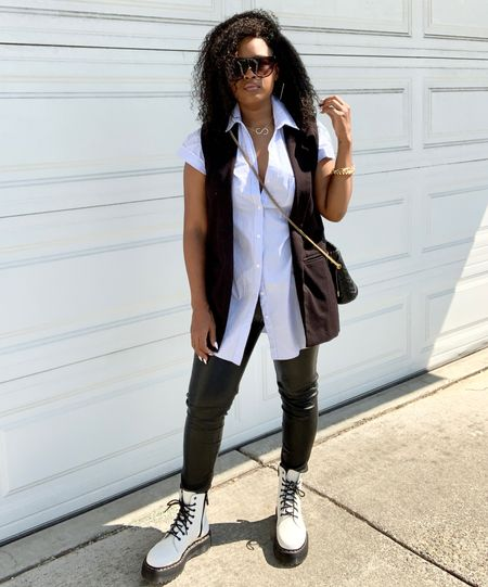 How to wear leather leggings and combat this Fall! Shop this look!     #LTKstyletip