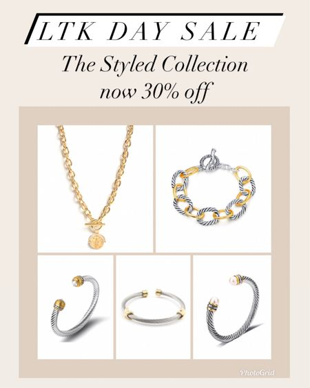 The styled collection now 30% off    #LTKunder50 #LTKsalealert #LTKstyletip #ltkday  http://liketk.it/3hxeu #liketkit @liketoknow.it   jewelry  Bracelet  Gifts for her Gift ideas  David Yurman Dupes  Designer Dupes Gold jewelry  Bangles  Coin necklace  Bangles  Bracelet stack  Gold rings  Cartier ring  Tiffany ring