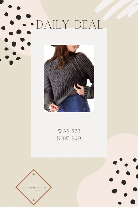 This Free People sweater makes the cut again - so cute and a free people sweater under $50 is 🙌🏻   You can instantly shop my looks by following me on the LIKEtoKNOW.it shopping app http://liketk.it/36VxK #liketkit @liketoknow.it #LTKunder50 #LTKstyletip #LTKsalealert @liketoknow.it.home @liketoknow.it.family