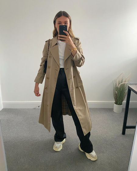 10 Pinterest inspired AW outfits 👉🏼  I'm always on the look out for outfit inspiration and @pinterestuk is one of my go-to places to search for outfit ideas.  Here are 10 outfits I've recreated using clothes I already own in my wardrobe.  2. Trench, white T-shirt, leather trousers, chunky trainers  #LTKstyletip #LTKunder50 #LTKeurope