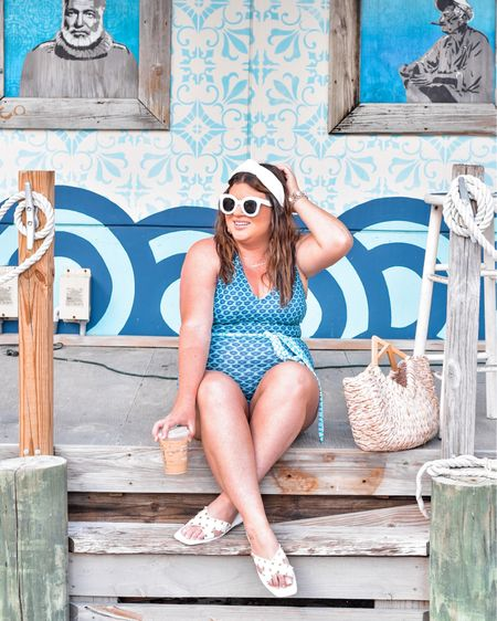 You pick the caption 🤔 : Changes in latitude, changes in attitude. 🌴 Easy, breezy, Keys-y. 😎 High tides and Florida vibes. ☀️  Cabana Life swimsuit linked here #liketkit @liketoknow.it http://liketk.it/3eGQU #LTKswim #LTKstyletip #LTKunder100