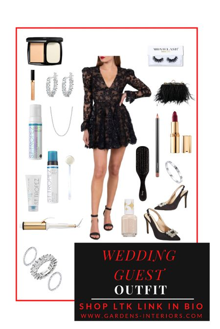 Wedding guest outfit / holiday party or anniversary dinner 😍    I can only tag 16 items on LTK. Go to my blog for all items. Link in bio 😘  #falloutfits #cocktaildress #weddingguestdress #datenightoutfit #holidayparty #lbd #littleblackdress  #LTKHoliday #LTKitbag #LTKwedding
