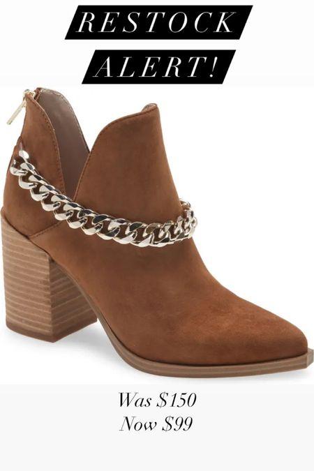 NSale chain booties restocked in all sizes!   #LTKshoecrush #LTKsalealert #LTKunder100