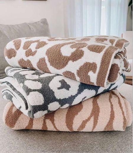 Obsessed with these cute blankets!     Cheetah print, cheetah print blanket, cute Blanket, soft blanket, home decor, bedroom decor, living room decor, fall decor  #LTKsalealert #LTKunder100 #LTKstyletip