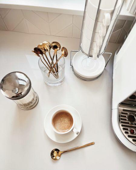Coffee bar, coffee accessories, espresso mugs, espresso maker, StylinAylinHome   #LTKunder100 #LTKhome #LTKstyletip