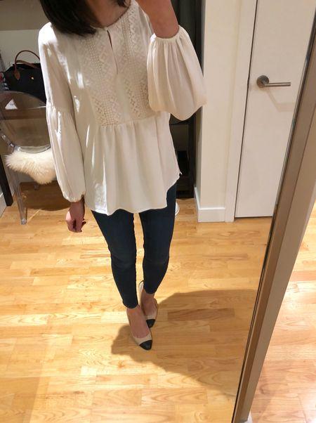 I took this pretty blouse in size XXSP which fits like a flowy size XSP. It's currently 50% off + FREE shipping @loft! 🛍 @liketoknow.it http://liketk.it/2ufso #liketkit #LTKsalealert #LTKunder50 #LTKunder100
