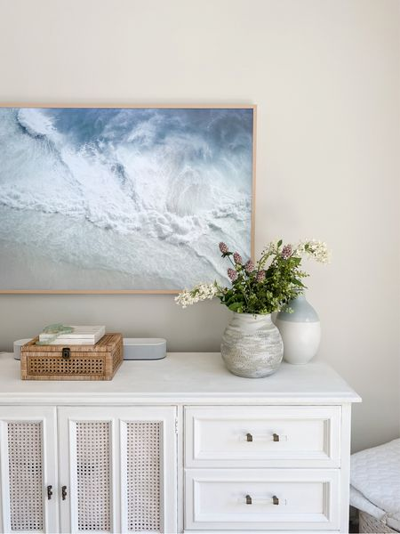 Channeling all the coastal warm weather vibes with new art on my frame tv 🌊 The summer collection from @collectionprints is SO good! I've linked some of my faves on my LTK for your reference.   #LTKhome