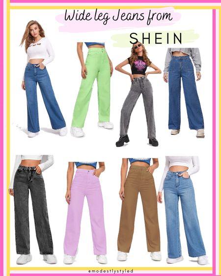 Cool down in these breezy, and affordable wide leg jeans from Shein. #Shein #LTKSpringSale #LTKsalealert #LTKstyletip #LTKunder50 #LTKfit #LTKtravel #LTKworkwear http://liketk.it/3fEA2 @liketoknow.it #liketkit #jeans