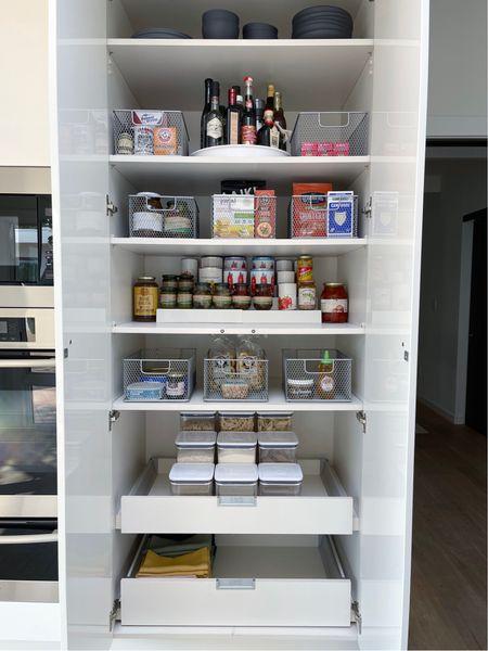 Organized pantry for 2 || #pantry #organization  #LTKhome #LTKunder50 #LTKbacktoschool