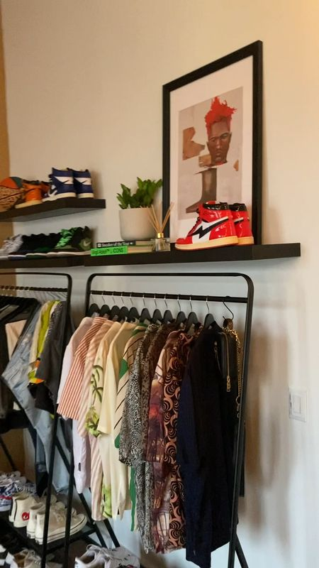 My exposed closet update! Shop some decor and also some of my favorite sneakers.   #LTKmens #LTKstyletip #LTKhome