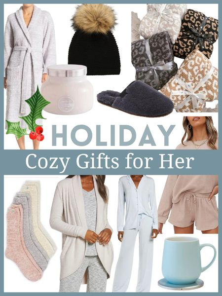 Cozy gifts for her - cardigans , blankets, candles , pajamas, slippers and socks - so many perfect gifts for her for the holidays!        Gifts for her , cozy gifts , Christmas gifts , holiday gifts , Nordstrom , barefoot dreams , cardigans , the styled collection , lounge sets   #LTKhome #LTKGiftGuide #LTKHoliday