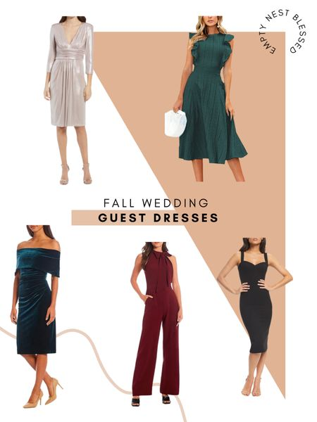 In love with these fall wedding guest dresses! These cute looks will make you stand out in the best of ways! These beautiful colors scream fall to me and are such an easy way to dress elegantly!   #LTKstyletip #LTKSeasonal #LTKwedding