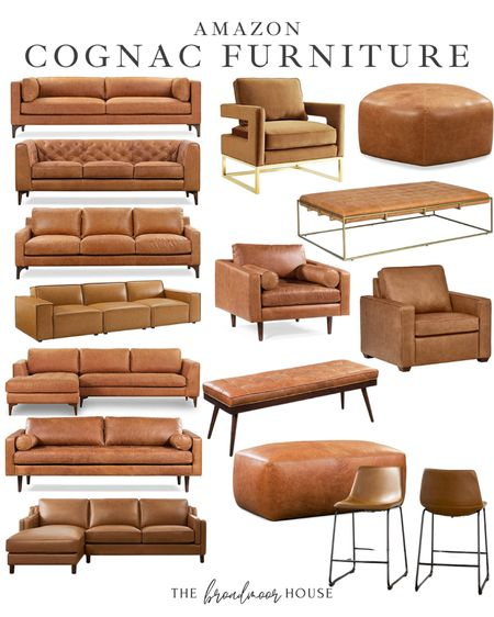 Amazon home, Amazon Finds, cognac furniture, cognac leather sofa, modern furniture, brown furniture, leather furniture, Living Room Decor, cocktail ottoman, velvet Furniture, leather bench, leather barstools, cognac counter stools, modern kitchen Furniture, Modern Chair, Modern living room, neutral Decor, fall Decor, fall home  #LTKSeasonal #LTKhome #LTKstyletip