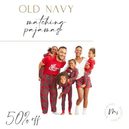 Old Navy matching pajamas sale, Today ONLY, 50% off  #LTKsalealert #LTKSeasonal #LTKHoliday