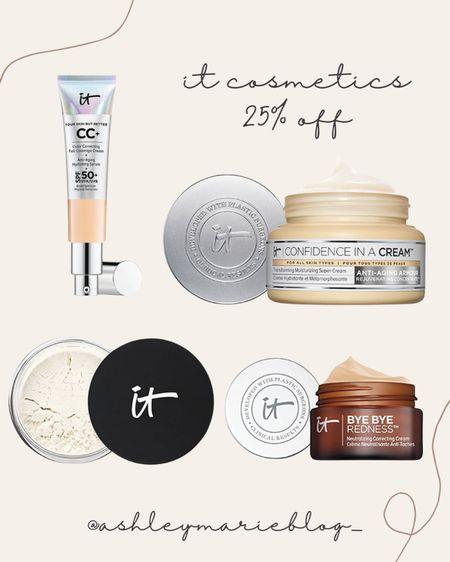 It cosmetics on sale. Bye bye redness, confidence in a cream, setting powder, cc cream   #LTKbeauty #LTKSale #LTKunder100