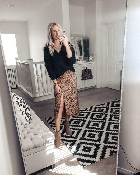 Loving this sweater and leopard skirt combo ❤️ this skirt has the cutest ruche detail! M in both  http://liketk.it/2Xsa5 #liketkit @liketoknow.it #LTKsalealert #LTKunder50 #LTKstyletip