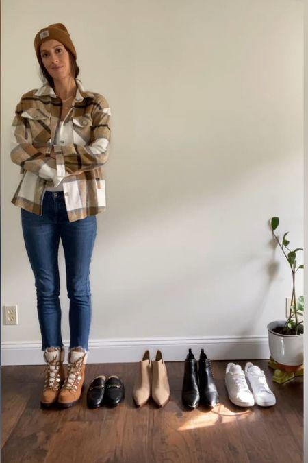 Plaid shacket for fall outfit   #LTKstyletip #LTKSeasonal #LTKunder50