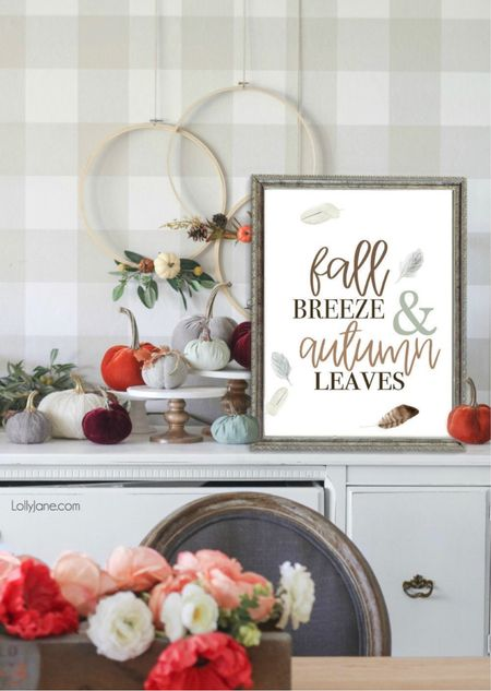 Grab a print from our shop for instant fall decor🍂  #LTKhome #LTKSeasonal #LTKunder50