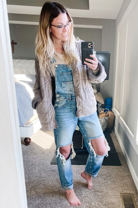 I finally purchased my first pair of overalls and I'm loving this Free People inspired vibe! Baggy, so comfortable, and the perfect outfit for running errands with the kids in tow. Everything is linked for you in my bio!   http://liketk.it/3f3iD #liketkit @liketoknow.it #LTKstyletip #LTKunder100  Shop my daily looks by following me on the LIKEtoKNOW.it shopping app