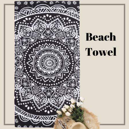 Mandala print beach blanket   #LTKstyletip #LTKunder50 #LTKswim