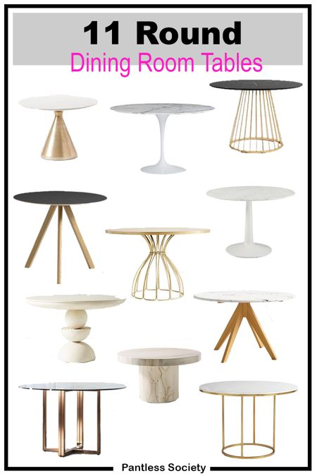 Round dining room tables. Round dining tables. Space saver. Living spaces. Home decor. Interior design. Round tables. Fall home decor. Fall decor. Entryway table.   #LTKfamily #LTKhome #LTKstyletip