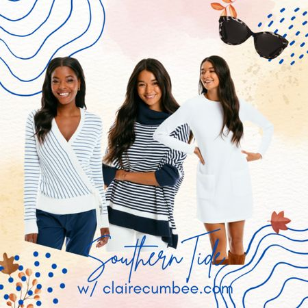Southern tide  Preppy fall style Pullover Quilted sweater dress Navy Fall teacher style   #LTKcurves #LTKstyletip #LTKfamily