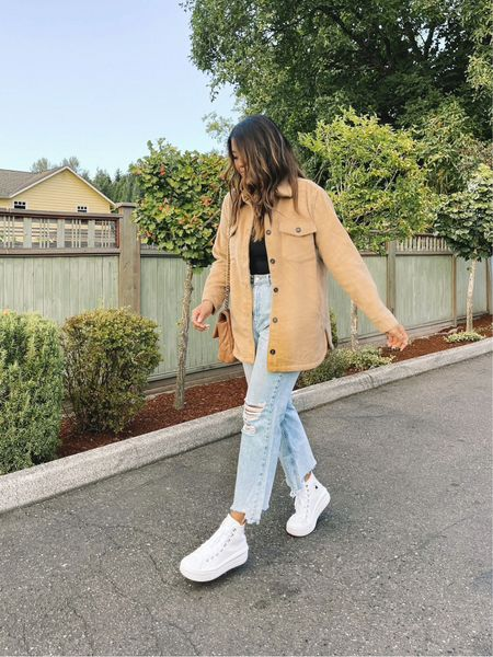 Jeans - size up Shacket medium   #LTKsalealert #LTKstyletip #LTKunder50