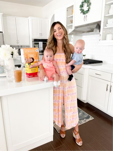 #ad Sharing what's in my @walmart plus bag today on the blog because this house needs fresh groceries, coffee and diapers 👶🏼👶🏼 delivered free ($35 minimum restrictions apply) to our door in order for this house to run smoothly with the twins!! I'm talking about Walmart's other benefits plus links to our outfits and more all from Walmart!! #walmartplus   #LTKfamily #LTKbaby
