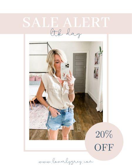 Sale alert: this utility too and denim shorts are on sale this weekend. Size up one in shorts.   #LTKsalealert #LTKstyletip #LTKunder50