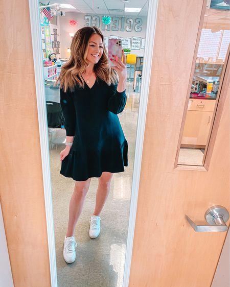 Loft dress in small. Veja sneakers. #liketkit @liketoknow.it http://liketk.it/3eZ31