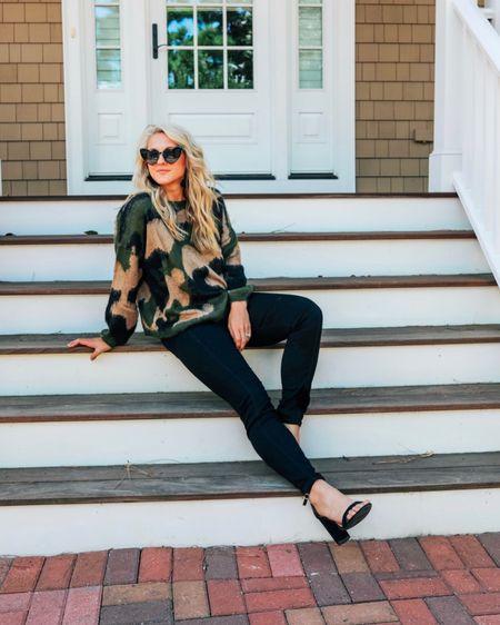 http://liketk.it/2FqkJ   Camo sweater / cute fall outfit / heart sunglasses / black heels / neutral fall outfit / cashmere camo sweater / girls night out outfit  Apricot lane Virginia Beach exclusive. Call 757-422-5263 to order. 🖤   #liketkit @liketoknow.it #LTKunder100 #LTKunder50 #LTKspring #LTKstyletip #LTKshoecrush #LTKfamily #LTKbrasil #LTKbeauty #LTKkids #LTKeurope #LTKbaby #LTKcurves #LTKitbag #LTKxPFW #LTKbump #LTKhome #LTKfit #LTKsalealert #LTKtravel #LTKswim #LTKworkwear #LTKwedding    Shopbop sweater