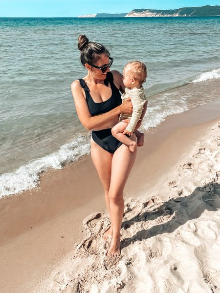 What a difference a year makes. Showing baby one of my favorite spots was a highlight of this summer.   #LTKbaby #LTKswim #LTKbump