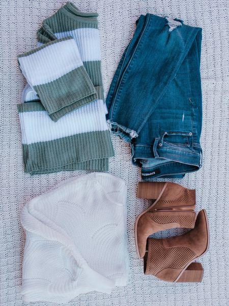 Sweaters jeans and boots    http://liketk.it/2Kn8Q @liketoknow.it #liketkit #LTKshoecrush #LTKsalealert #LTKunder50