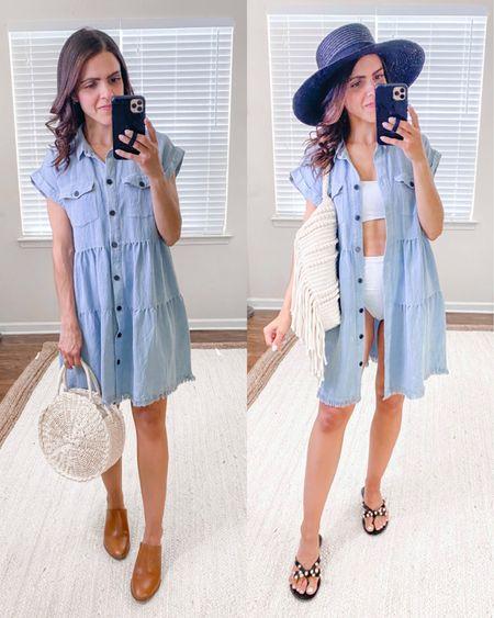 Shop the Mint julep boutique haul + ways to wear // denim dress (tts) http://liketk.it/3hPNR  #liketkit @liketoknow.it #LTKstyletip #LTKunder50