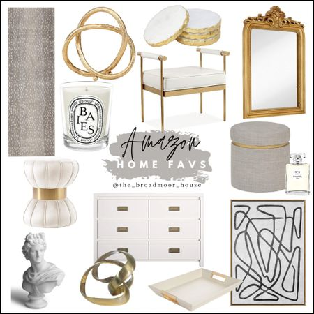 Amazon home, amazon finds, kitchen runner, living room decor, antelope rug, Ballard rug, vanity stool, candles, wall art, modern wall art, nursery, dresser, brass decor, white decor, bust, coasters, beauty room, ornate mirror, brass mirror, vintage mirror, Anthropologie mirror, stool, bench, glam    #LTKhome #LTKbeauty #LTKstyletip http://liketk.it/39DgZ #liketkit @liketoknow.it