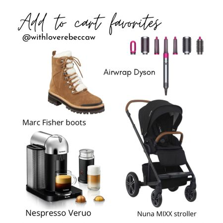 http://liketk.it/341mv @liketoknow.it #liketkit ADD TO CART FAVORITES! Marc Fisher sherpa boots, Airwrap Dyson, Nuna MIXX stroller, Nespresso Vertuo! Great Christmas gifts 🎁